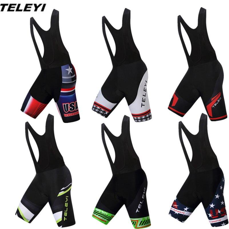 Prix pour 2017 TELEYI Vert Vélo Cuissard Noir de bicyclette de vélo rembourré shorts manches Sport VTT Vêtements hommes Ropa Ciclismo maillot