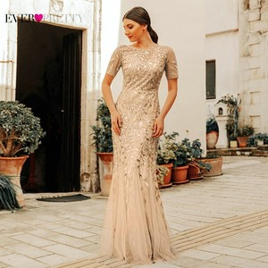 Image 5 - Robe De Soiree Ever Pretty Sexy Mermaid Evening Dresses Long Sparkle Draped Tulle Formal Dresses Elegant Women Party Gowns 2020