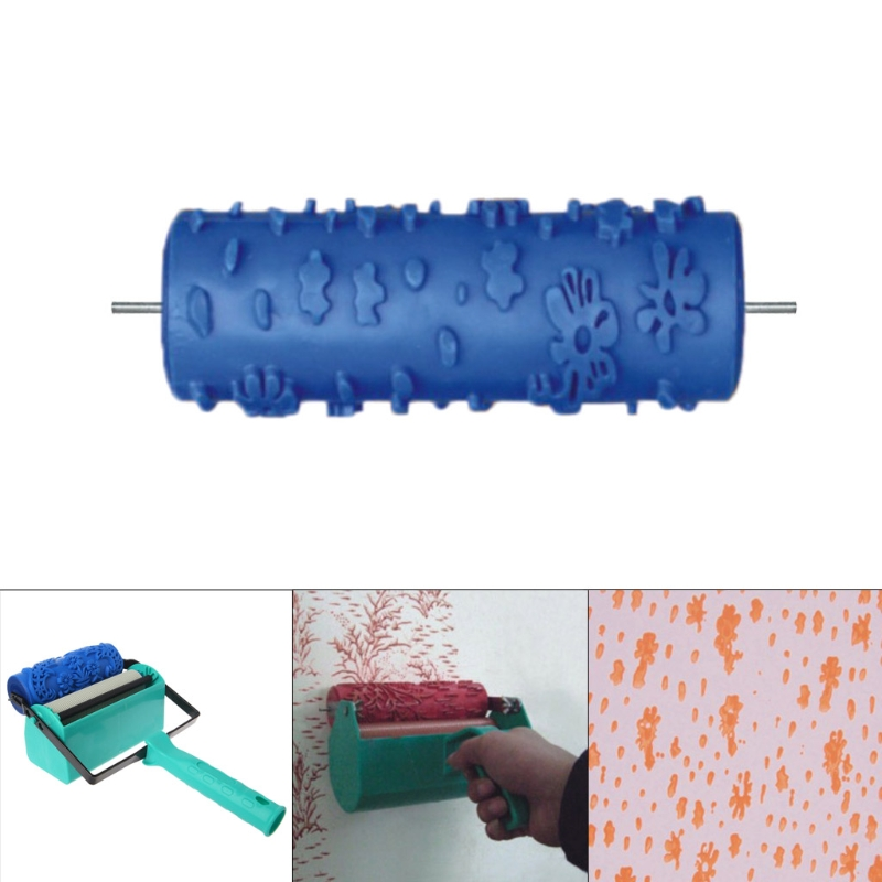 5 Embossed Paint Roller Sleeve Wall Texture Stencil Brush 3D Pattern Decor Wallpaper Diy,5Inch085Y