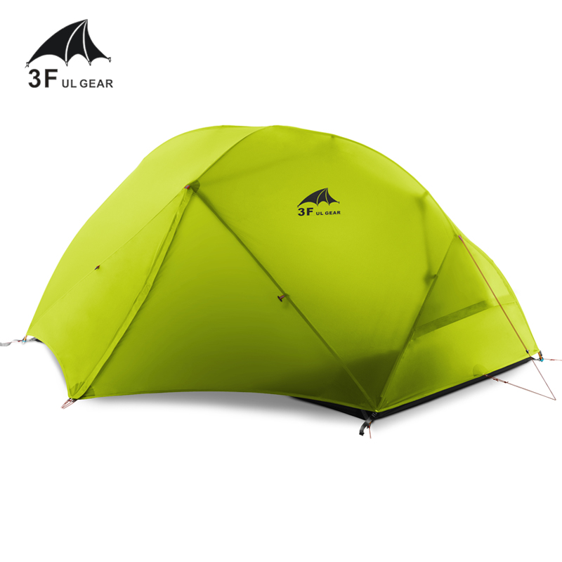Image 4 - 3F UL GEAR 2 Person Camping Tent 4 Season 15D With Mat Outdoor  Ultralight Hiking Backpacking Waterproof Tents Waterproof CoatingTents