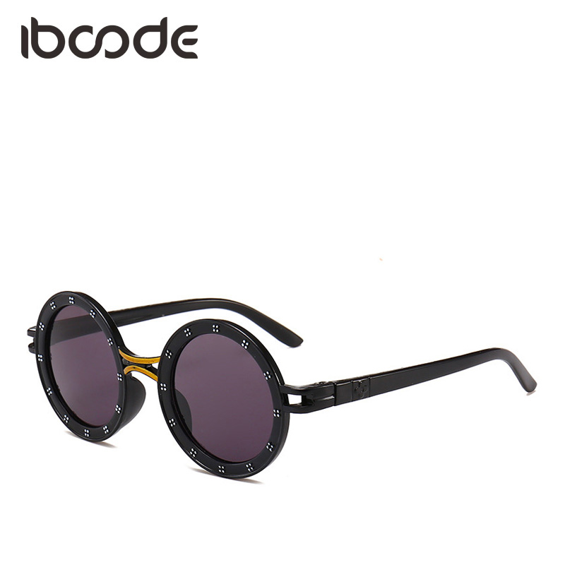 iboode Baby Kids Round Vintage Cute Sunglasses Children Anti-UVA Anti-UVB Shades Boys Girls Simple Retro Sunglasses gafas de sol