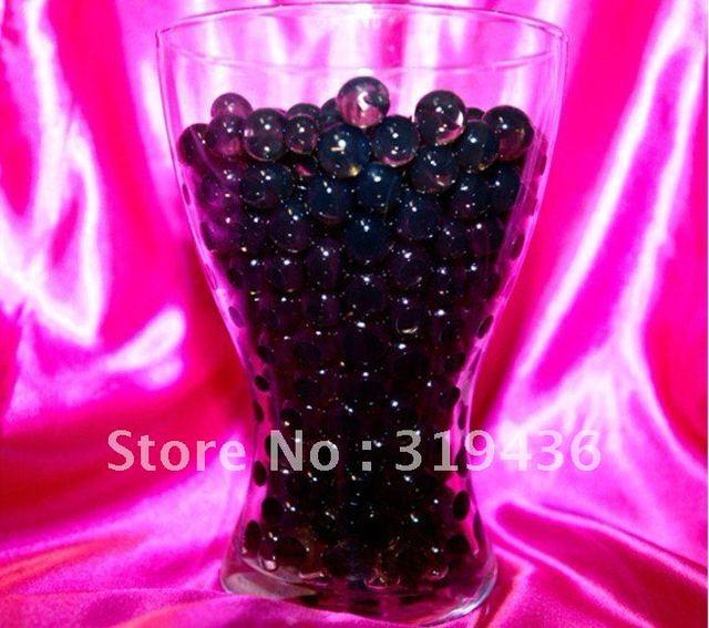 2012 Vase Filler Using Black Crystal Water Gel Pearl Beads Raninbow