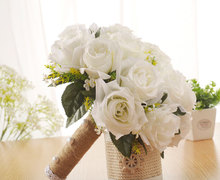 Wedding Bouquets Artificial Flower pearl Bridesmaid Bridal Bouquet for BRIDE Marriage SPH-5535
