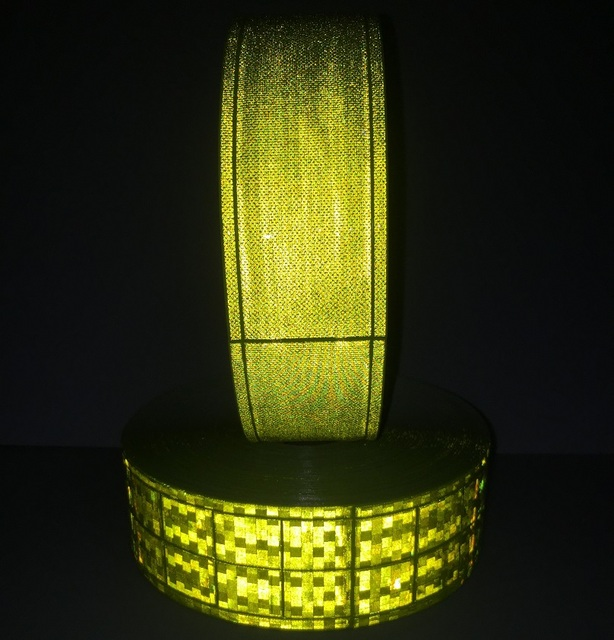 5CM*1M Reflective PVC Tape Flashing Tiny Star Small Square Night Reflective Warning Strip Sewing For fashion Clothing Toy 4