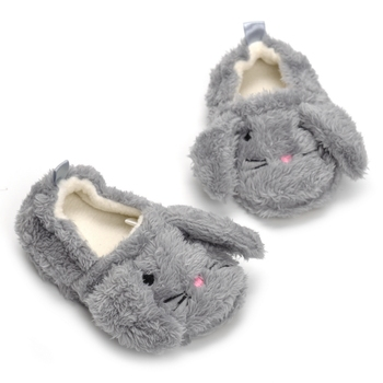 Girls High Quality Short Plush Soft Face Cartoon Long-Eared Rabbit Leisure Indoor Slippers Antiskid Toddlers Slippers Baby Girl фото