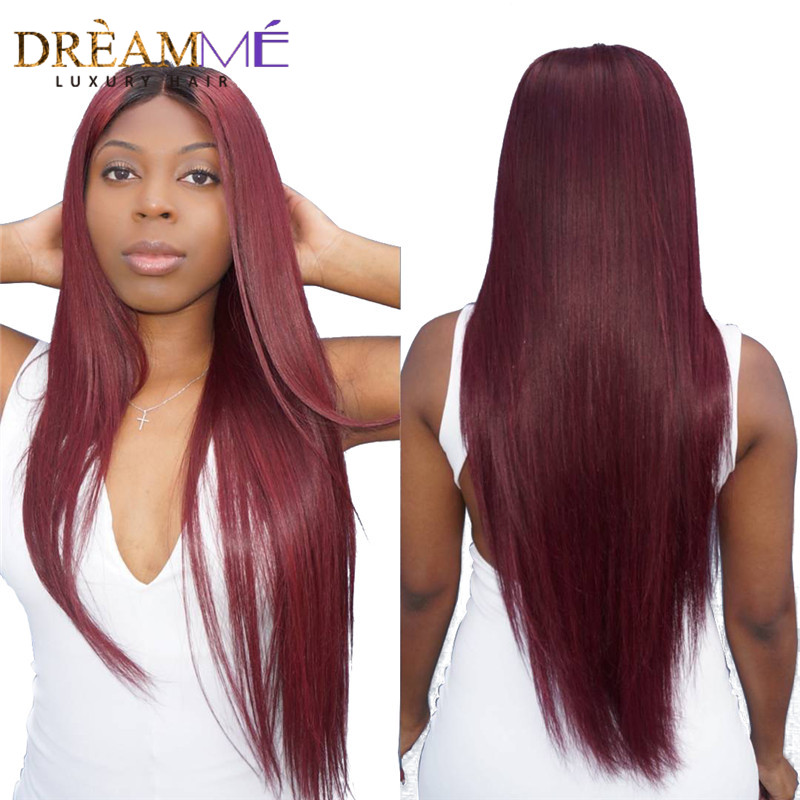 1b 99 j Ombre Lace Front Wig With Baby Hair Pre Plucked Brazilian Lace Front Human