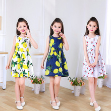 купить Girl Dress Kids Children Dress for Girls Sleeveless  dress girl Soft Cotton Princess Dresses Baby Girls Clothes 2019 Summer new по цене 646.78 рублей