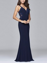 Sexy Navy Blue Mermaid Abendkleider Lange 2016 Hohe Qualität Plus Size Prom Kleid Party Cocktail-formale kleid Robe De Soiree