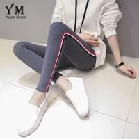 YuooMuoo Spring Autumn New Women Bottom Trousers Large Size Cotton Korean High Waist Stripe Ankle Length