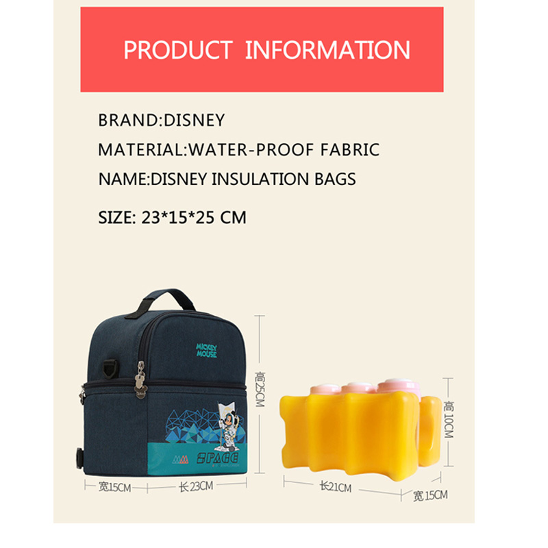 Baby Insulation Bag Milk Food Fresh Storage Thermal Diaper Bag Cartoon Mummy Feeding Bottle Cooling Backpack