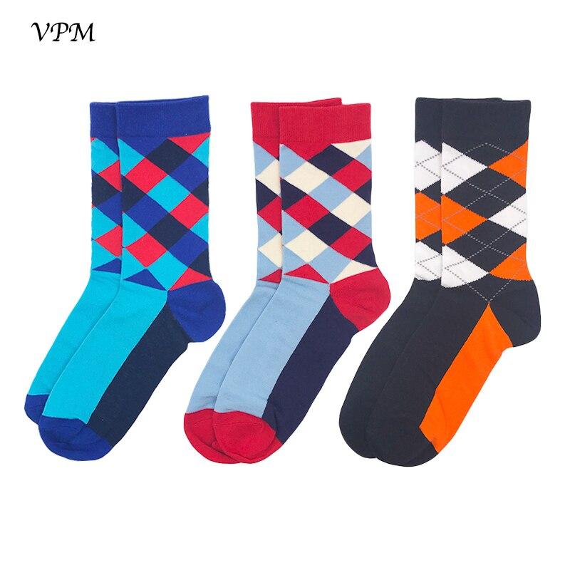 New Fashion Brand Socks For Men 3 Pairs Gift Set Graphic Design Long Socks Men Cotton Socks 39-44