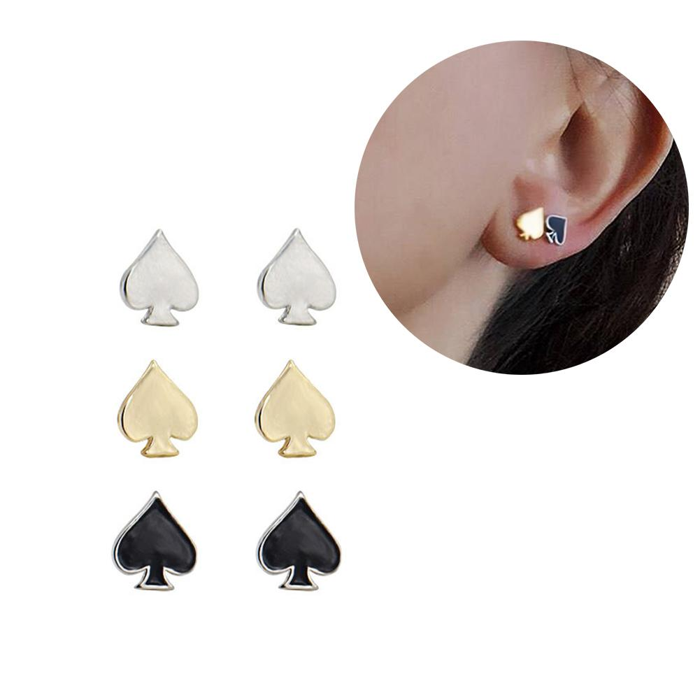 1 Pair Cute Heart Shape Earrings Tragus Earrings Cartilage Helix Ear Studs New