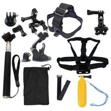 GoPro Accessories Kit For Go Pro SJCAM SJ4000 SJ5000 SJ7000 Action Camera Accessories Set Package For Hero 1 2 3 3+ 4 Xiao Mi Yi