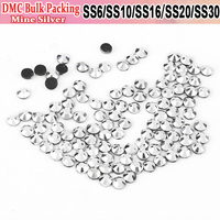 Bulk Packing Hotfix All Size Strass Crystals Mine Silver Hot Fix Rhinestone Motif Iron On Transfer Design For Wedding Decoration