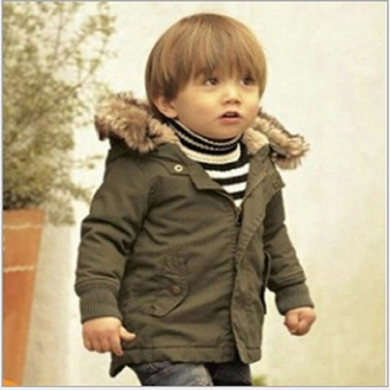 Hooyi Children Down Jacket Hoodies Boy Coat Green Kids Jacket Baby Boys Clothes Outfits Winter Fleece Outerwear Top Quality 1-5Y