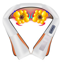 High quality 16 Heads infrared kneading back massage instrument U Shape Neck Shoulder Body Massager Electrical Shiatsu
