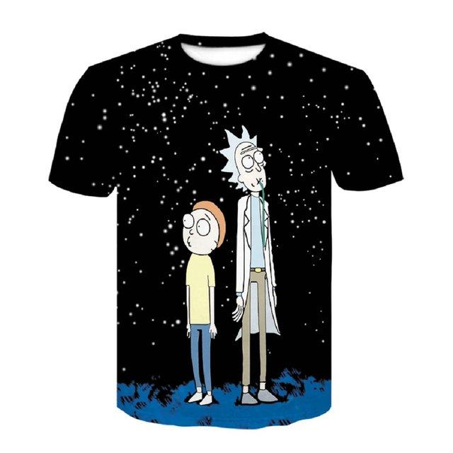 Summer Tshirt Cartoon Rick...