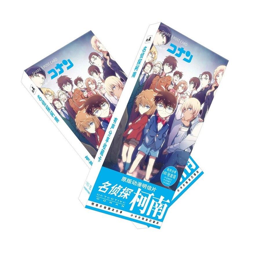 все цены на 180pcs/Set Detective Conan Cartoon Postcard/Greeting Card/Message Card/Christmas and New Year gifts онлайн