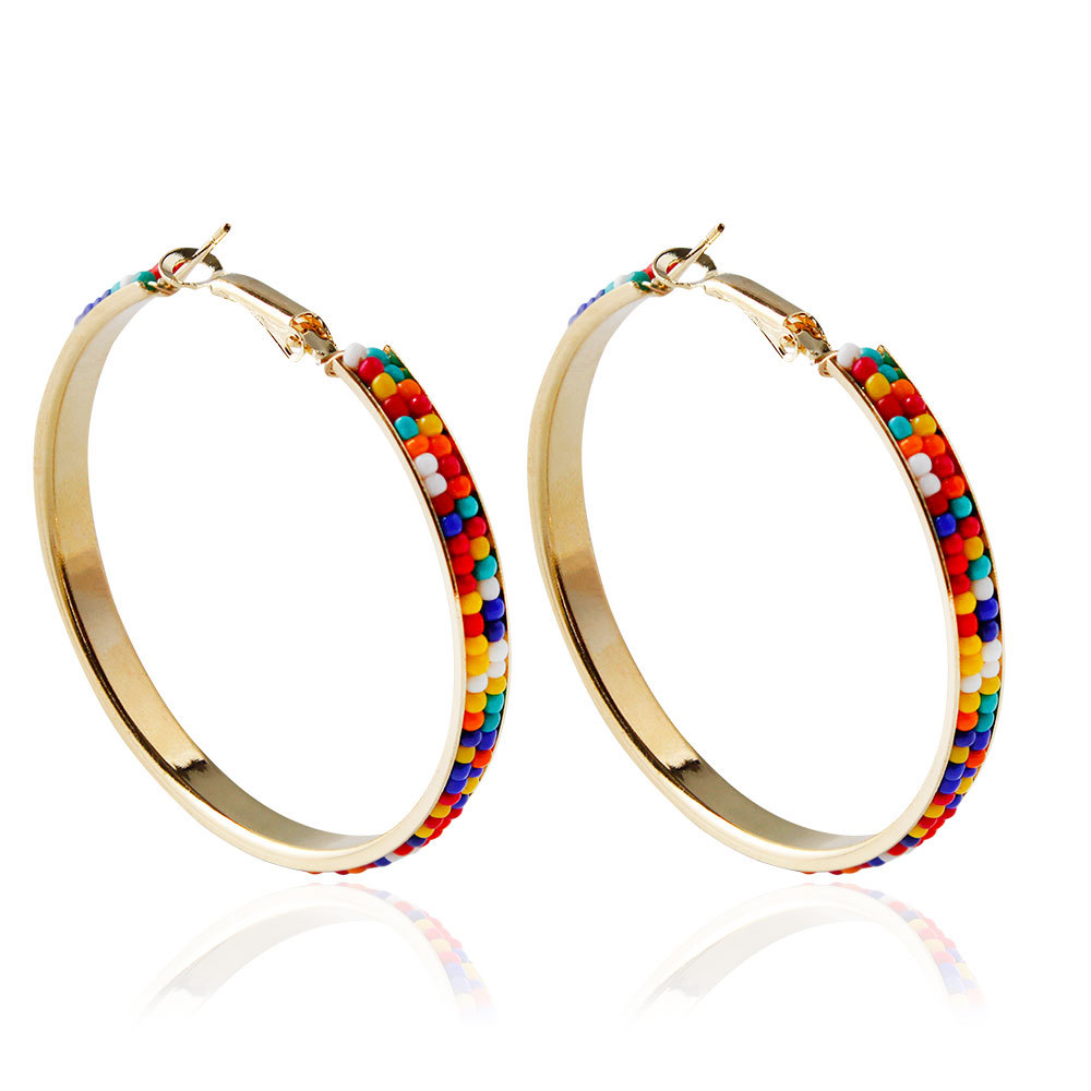 Colored Plastic Hoop Earrings