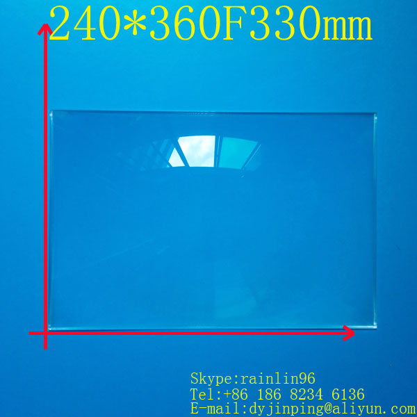 free shipping  15.6 inch lcd panel DIY projection screen projector fresnel lens 240MM*360MM focal length 330 MM free shipping 400 300 f600 fresnel lens for diy projector condenser lens supports custom