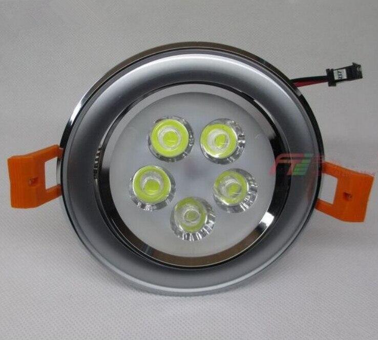 Высокое качество затемнения встраиваемые светодиодные светильники 5*2 Вт приглушить светодиодный прожектор светодиодный потолочный lamp110v ...