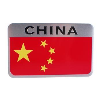 80x50mm Car Decoration Badge Decal Metal Emblem Sticker Durable Chinese flag Logo for Great Wall Roewe Chery Smart Car Styling