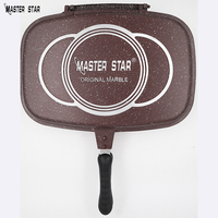 Master Star Famous Brand Die Casting Double Sided Fry Pan 40cm Grill Pan