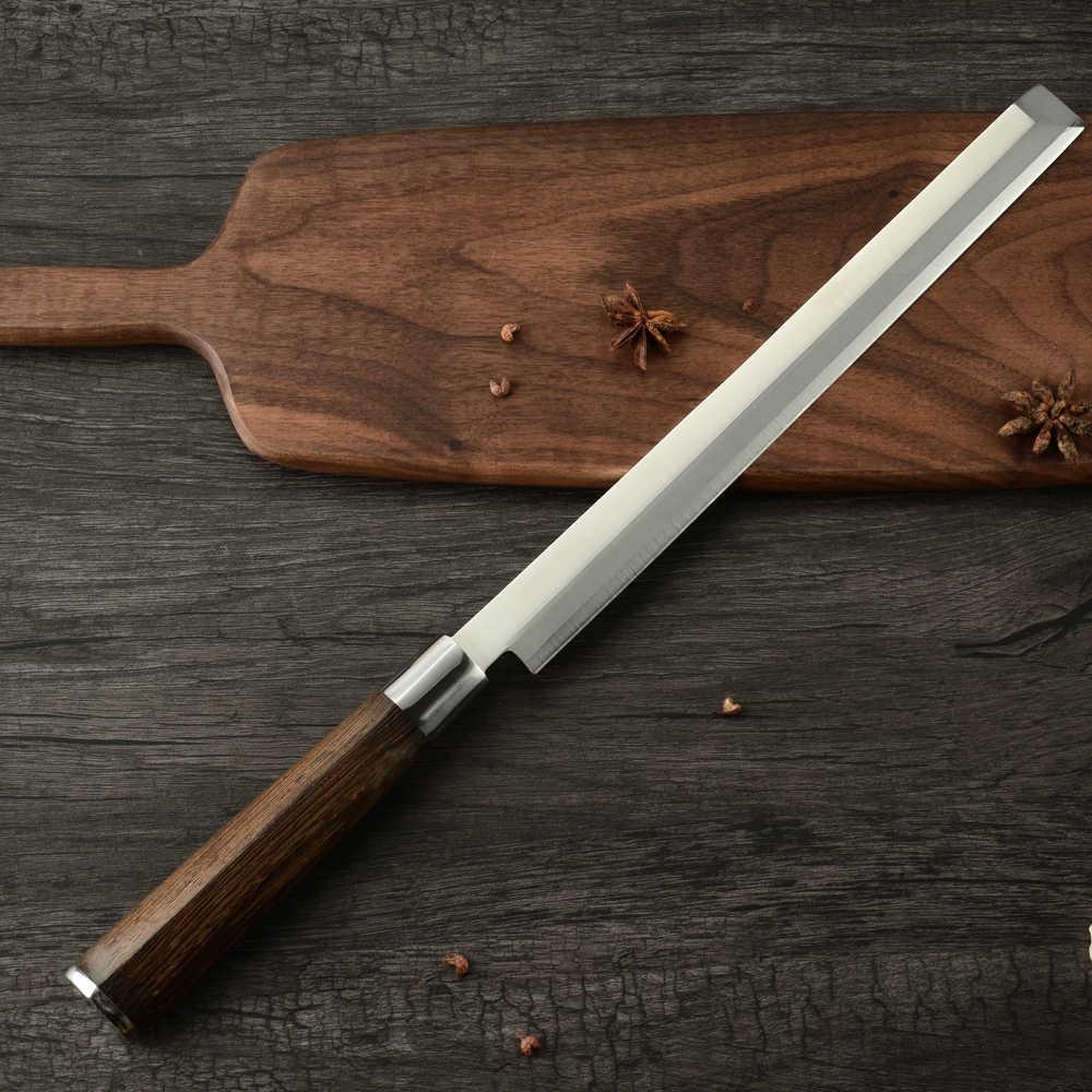Damast 9 zoll Klinge Küche Schneiden Messer Wassermelone Fisch Sushi Fleisch Schneiden Messer High Grade Edelstahl Küchenchef Messer Werkzeuge