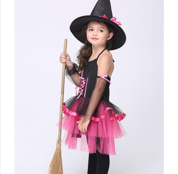 Children Kids Baby Girls font b Sexy b font Halloween Carnival Party Fancy Dress with Hat