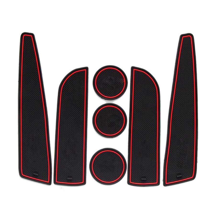 Dongzhen 7pcs Auto font b Car b font Styling Door Groove Gate Slot Cup Armrest font