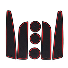 Dongzhen 7 шт. Авто Стайлинг двери Groove Слот ворота Кубок подлокотник хранения Pad Коврики резиновые для автомобиля крышка подходит для BMW MINI 2012 ~ 2013