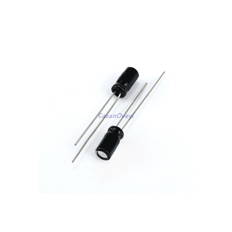 50PCS 10uF 100V Electrolytic Capacitor 105°C 6x11mm