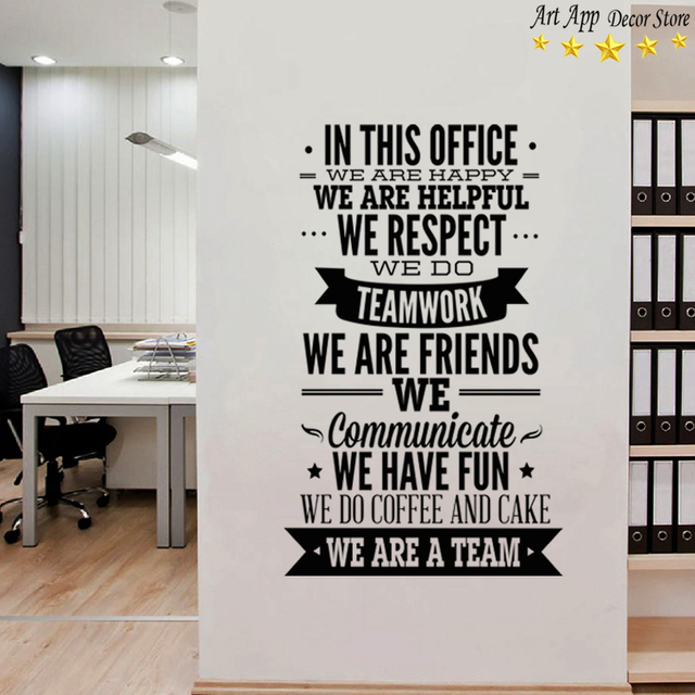 Good Quality Office Rules English Sticker House Decor New Art - Vinyl wall decals removable