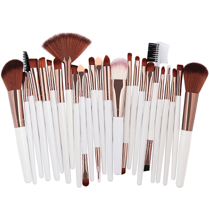 25pcs Makeup Brushes Set Beauty Foundation Power Blush Eye Shadow Brow Lash Fan Lip Face Cosmetics Soft Synthetic Hair Tool Kit