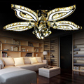 Fashion crystal flower ceiling lights for living room luminaria teto cristal ceiling lamps of home decoration