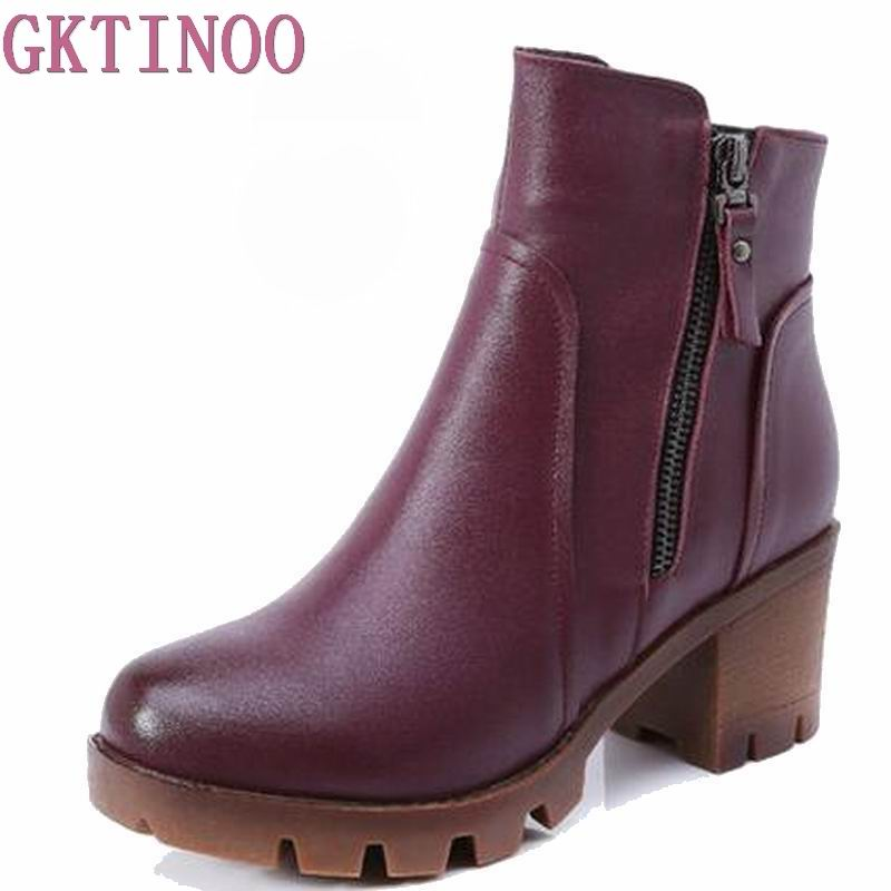 2019 automne hiver femmes bottines nouvelle mode laine fourrure chaude femme neige bottes pour dames chaussures grande taille 34 40-in Bottines from Chaussures    1