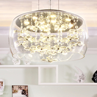 Мебели краткое современный K9 Хрустальный цветок кулон светильники Европейский дома моды Деко Гостиная DIY стекло подвесной светильник