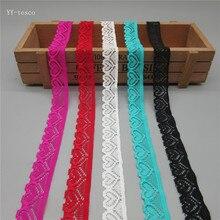 Partihandel 10 meter vacker högkvalitativ stretch elastisk spetsband 18mm breda spetsar för syning av tillbehörsdekoration