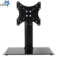 Height Adjustable Desktop TV Stand Floor Type Toughened Glass Base TV Table Top Stand Holder For 19 32 LCD Flat Screen TV