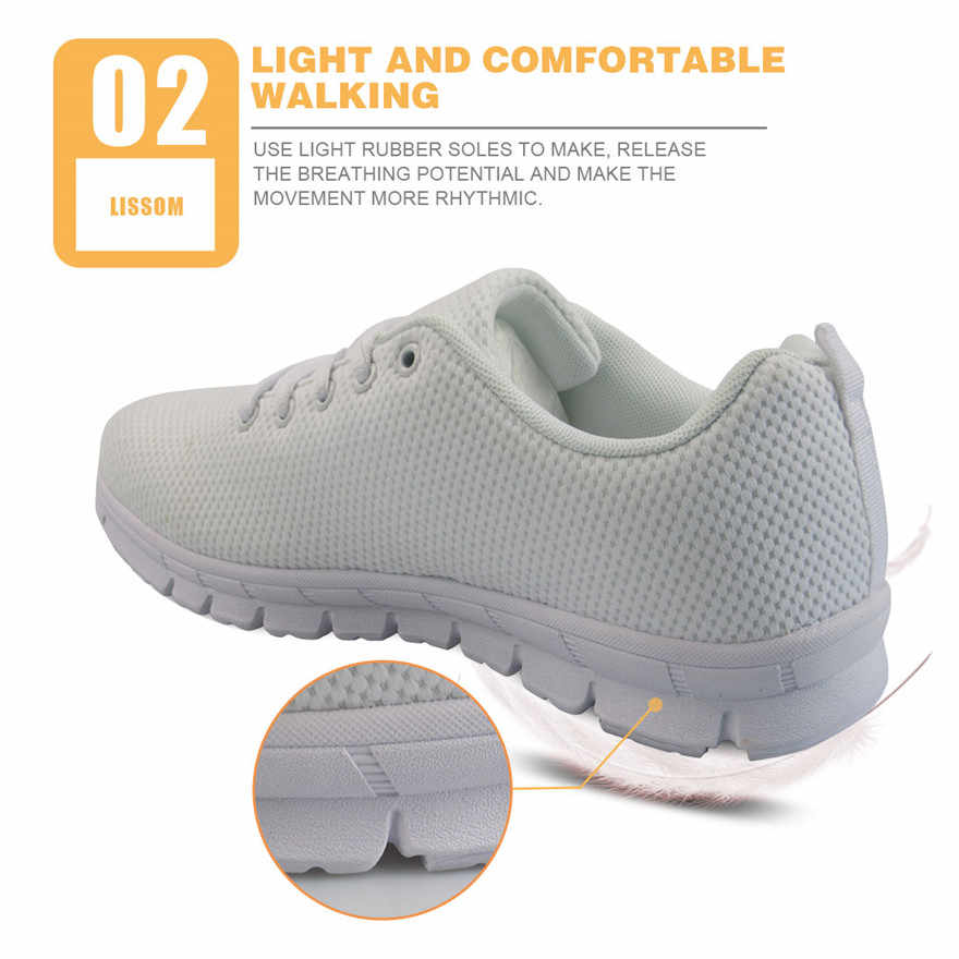 918bcb8fbcbf ... NOISYDESIGNS Pink Cute Cartoon Unicorn Printed Women Casual Sneakers  Female Breathable Lace-up Shoes flat ...