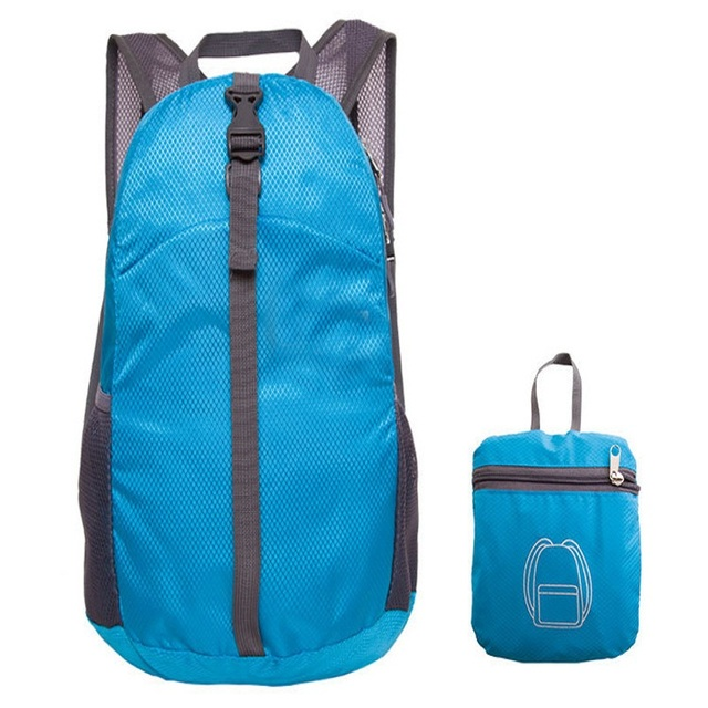 Waterproof Nylon Folding Men And Women Pack Outdoor Backpack Sports Shoulder Bag For Camping Hiking Picnic Easy To Carry