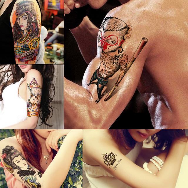 1pc Hot Sexy Product Temporary Tatoo Paper David Beckham Sticker LC-744S Waterproof for Women Men Body Art Tattoo Stencil Design