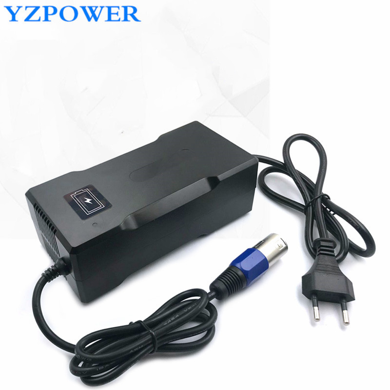 YZPOWER CE ROHS 54.6V 4A Smart Lithium Battery Charger  For 48V Lipo Li-ion Battery  Electric Bike Power Tool With Cooling Fan