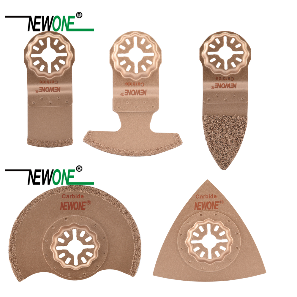 NEWONE 5pcs/set Carbide Saw Blades STARLOCK Starlock For Power Oscillating Tools For Cut Ceramic Tile Or Polish Wood Ceramic