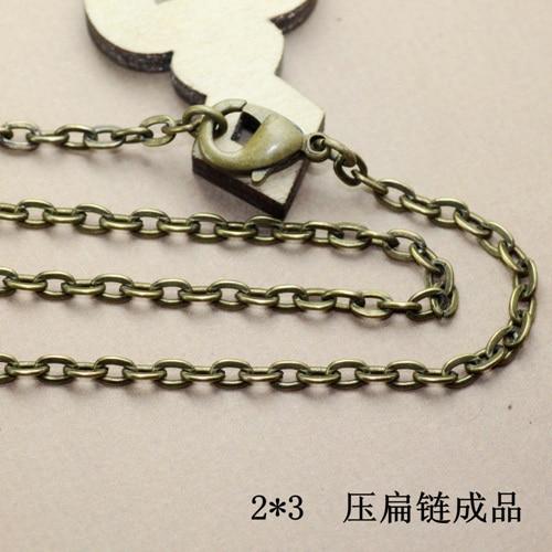 6950ead9d6 2015 nuevo llega la joyería collar de bronce antiguo corchete de la  langosta de las cadenas del cable cadena 90 cm longitud cadena acabada cy146