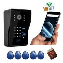 Apartamento wifi puerta de intercomunicación de vídeo doorp perfeccionar intercom timbre inalámbrico con motion detección de vigilancia oculta cámara de la puerta