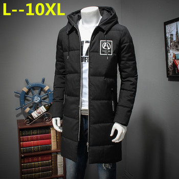 10XL 8XL 6XL 5XL 2018 Soft Fabric Winter Men's Jacket Thickening Casual Cotton Jackets Winter Mid-Long Parka Men Brand Clothing