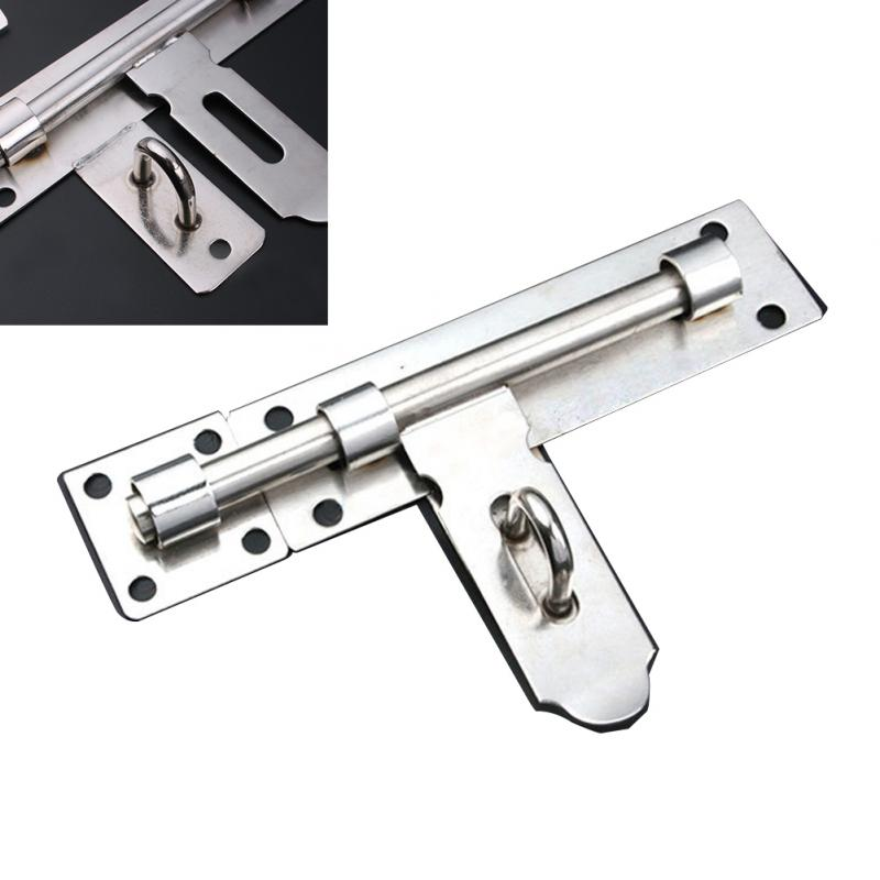 цена 8 Inch Long Stainless Steel Door Window Latch Slide Lock Barrel Bolt gates cabinets Door Latch Bolt silver Stainless Steel Latch