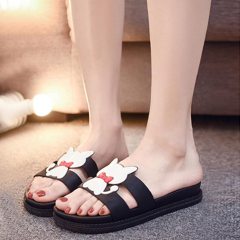 Bailehou Fashion Women Indoor Home Slippers Female Summer Beach slippers Non-slip Slippers Cartoon Cute Shoes Women Flip Flops 4