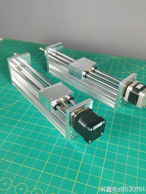 NEMA17/23 מנוע צעד CNC ציר Z שקופיות עבור Reprap 3D מדפסת CNC חלקי 170/270mm נסיעות CNC נתב לינארי תנועה מפעיל